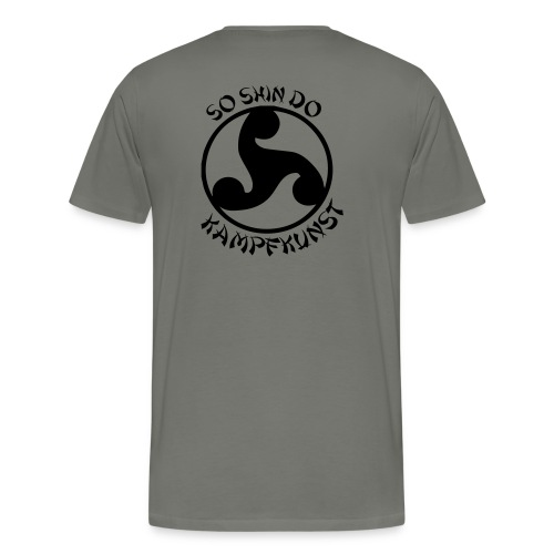 Rueckendruck Emblem - Männer Premium T-Shirt