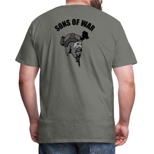 Sons of War oven - Herre premium T-shirt