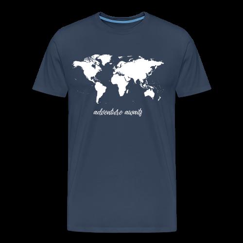 adventure awaits - Weltkarte - Männer Premium T-Shirt