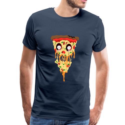 Schockierte Horror Pizza - Männer Premium T-Shirt