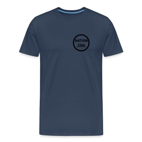NATION CLAN Logo Limited edition - Premium-T-shirt herr