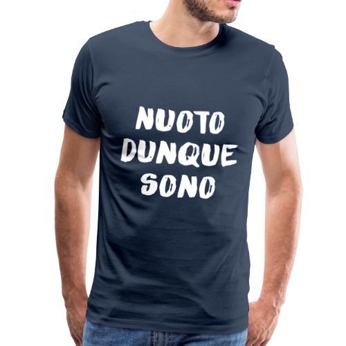 NUOTO DUNQUE SONO - Maglietta Premium da uomo