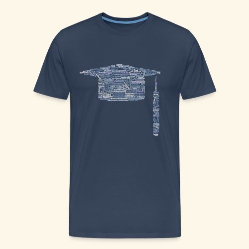 Studying and learning words, uni square cap - Men's Premium T-Shirt
