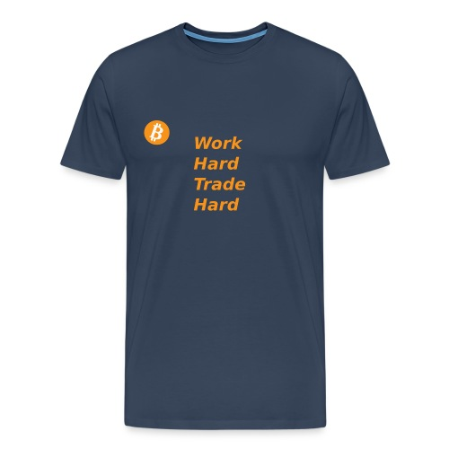 Trade Hard Bitcoin - Mannen Premium T-shirt