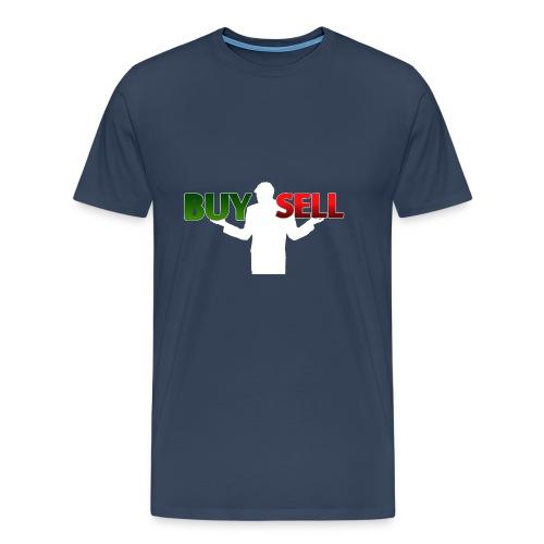 Buy Sell mit weißer Person - verschiedene Farben - Männer Premium T-Shirt