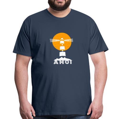Ahoi Leuchtturm Baltic.sh.design Gelb Sonne Surfer - Männer Premium T-Shirt