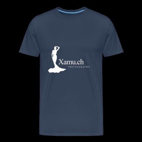 logoxamuweiss_gross_kl - Männer Premium T-Shirt