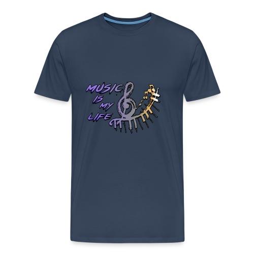 Music is my life - Dames Shirt - Mannen Premium T-shirt