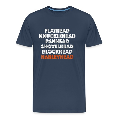 Flathead Knucklehead Panhead all Harleyheads - Mannen Premium T-shirt