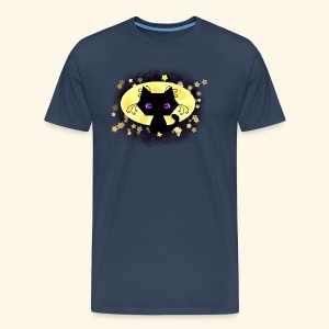 The Kitten and the Moon (black) - Männer Premium T-Shirt