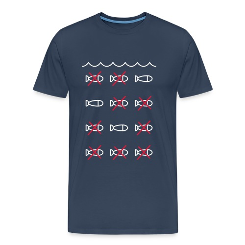 Überfischung Meer Fische Tiere Vegan Aktivismus - Männer Premium T-Shirt