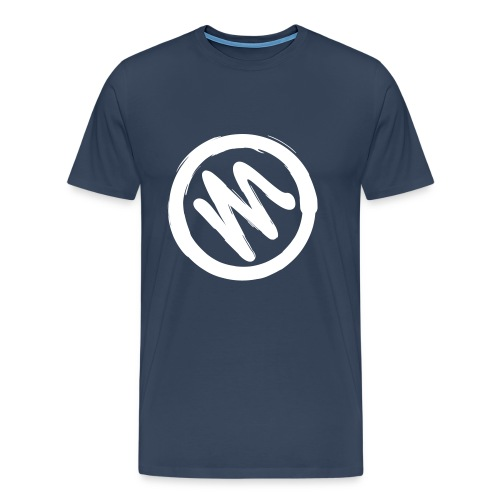 Mahiro Kreis Held Heldensymbol Logo Design Pinsel - Männer Premium T-Shirt