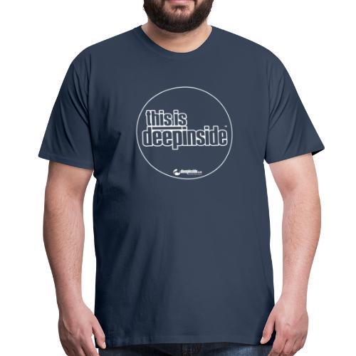 This is DEEPINSIDE Circle logo white - Men's Premium T-Shirt