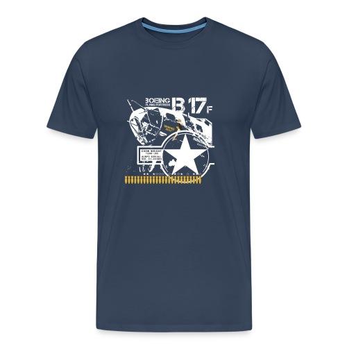 b-17-para-negro-png - Camiseta premium hombre