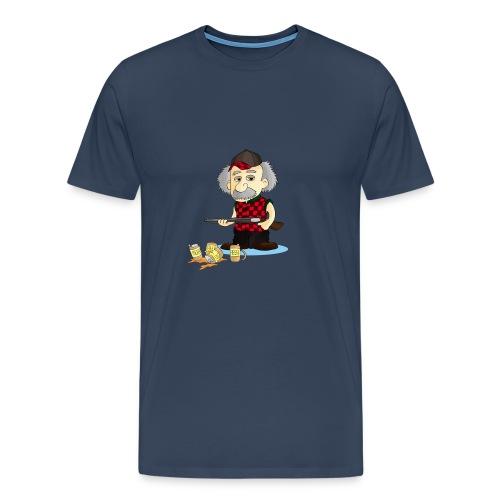 WOMENS L/Sleeve TEE REinstein Bee Logo top left - Men's Premium T-Shirt
