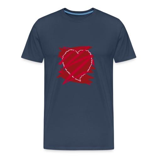 corazón enamorado, corazón roto - Camiseta premium hombre