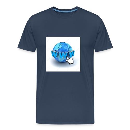 14821565-Internet-world-wide-web-concept-Earth-glo - Premium-T-shirt herr