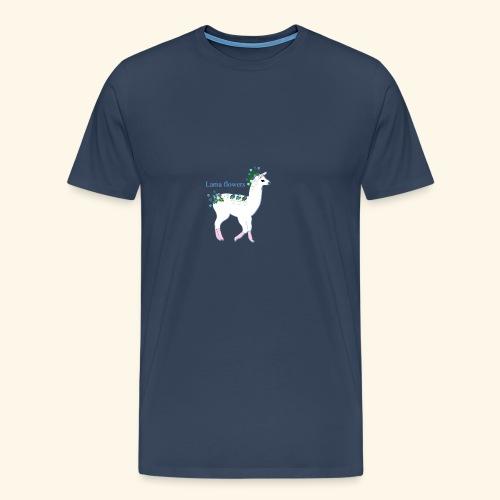 Lama Flowers - T-shirt Premium Homme