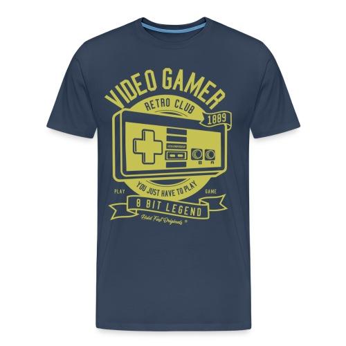 HOLD FAST ORIGINALS Retro Gamer Gold 1889 - Männer Premium T-Shirt