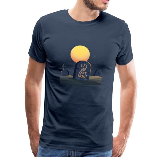Let Me Out Now Halloween Spaßshirt - Männer Premium T-Shirt