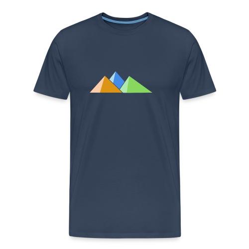 Drei Berge in drei Farben - Männer Premium T-Shirt