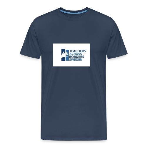 Teachers across borders logga - Premium-T-shirt herr