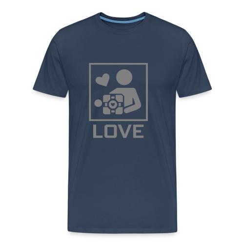SPREADSHIRT_PORTAL_CUBE_LOVE - Maglietta Premium da uomo