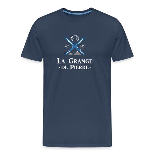 La Grange de Pierre Blue Cross Light - T-shirt Premium Homme