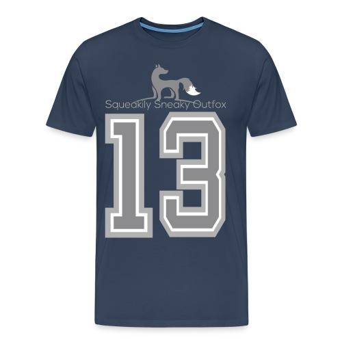 Grey sneaky fox - Herre premium T-shirt