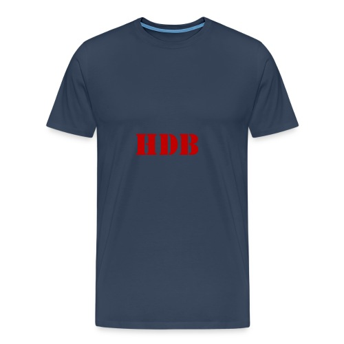 HDB Mok binnenkant rood - Mannen Premium T-shirt