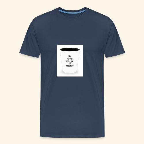 Shot Glass with inscriptions Keep Calm & Brexit - Men's Premium T-Shirt