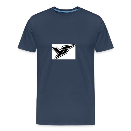 YT LOGO OUTLINE DOPPELT 1 - Men's Premium T-Shirt