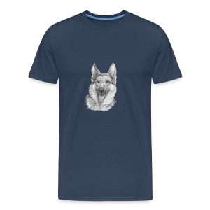 Schæfer German shepherd - Herre premium T-shirt