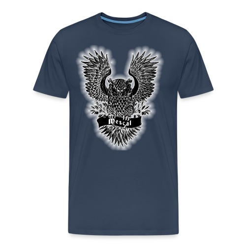 Gufo reale nero - Black Owl - by Mescal - Maglietta Premium da uomo