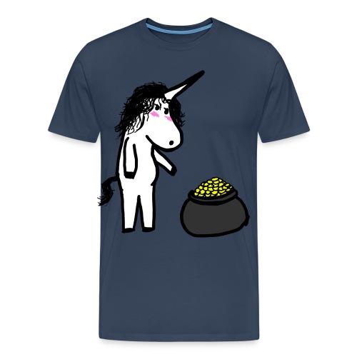 Oro unicorno - Maglietta Premium da uomo