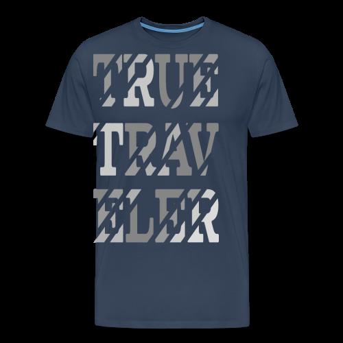 True Traveler Grey design - Miesten premium t-paita
