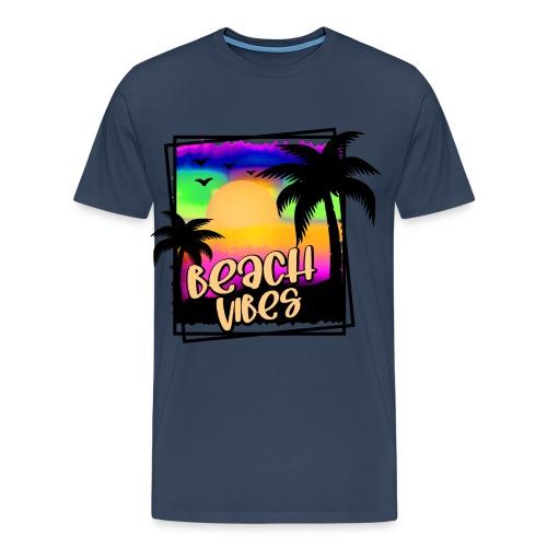 beach vibes Sommerhemd für den Urlaub - Männer Premium T-Shirt