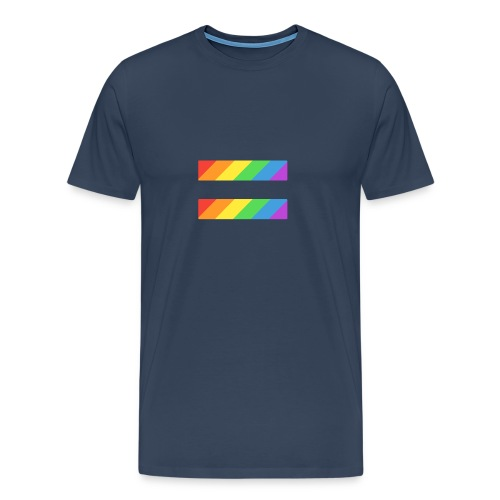 LGBTQ Equality Pride Logo - Men's Premium T-Shirt