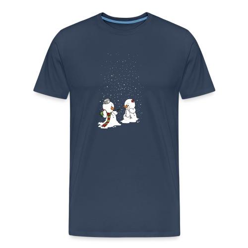 Schneemann & Schneefrollein - Männer Premium T-Shirt