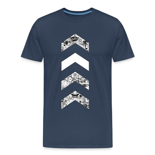 Birthday Charity Drive Design 3 OT5 Chevrons png - Men's Premium T-Shirt