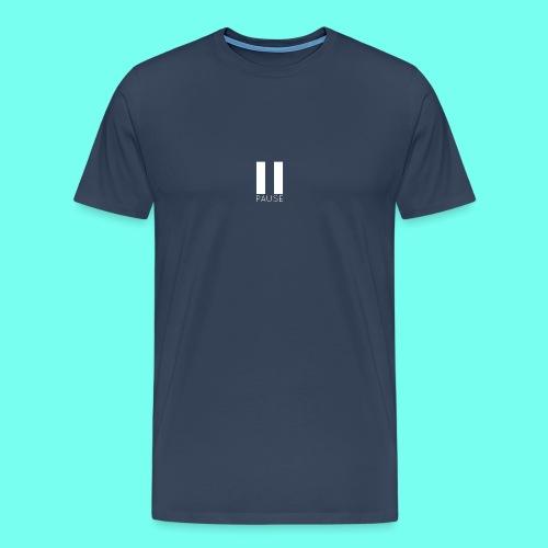 White Pause Logo - Men's Premium T-Shirt