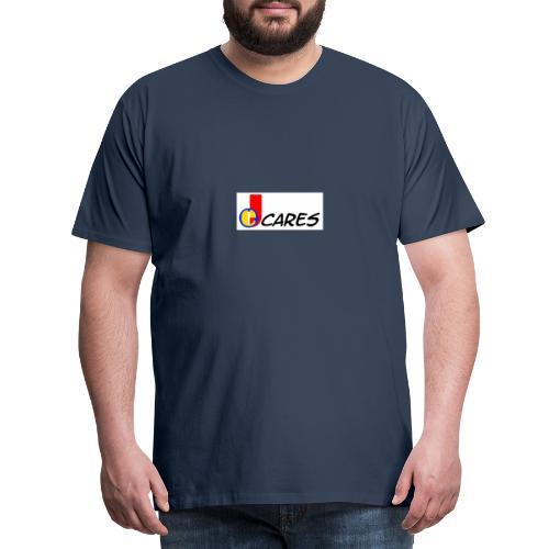 Joe Cares Logo light - Männer Premium T-Shirt