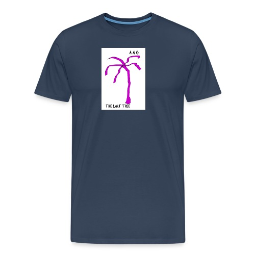 Draw-palm-pink - Premium-T-shirt herr