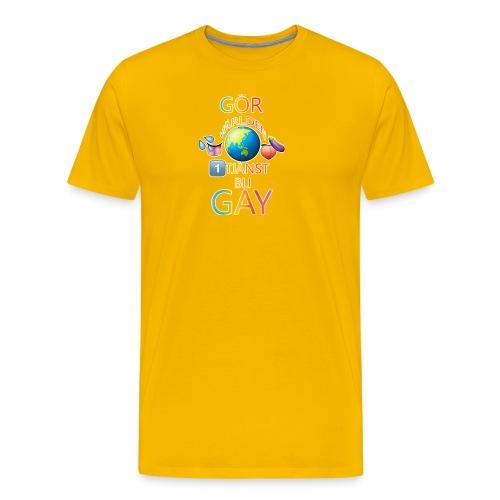 Gör Världen En Tjänst, Bli Gay LBGTQ+ - Premium-T-shirt herr