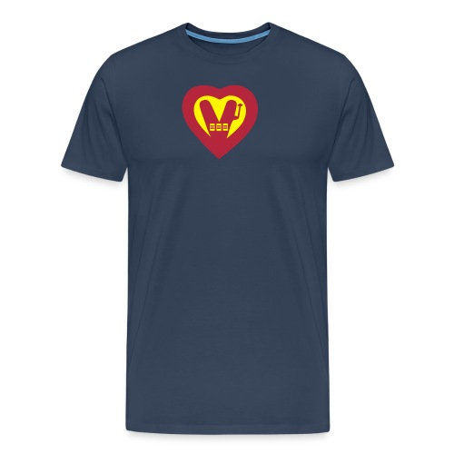 super vegan heart - Men's Premium T-Shirt