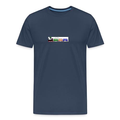 dampfender Zug - Männer Premium T-Shirt