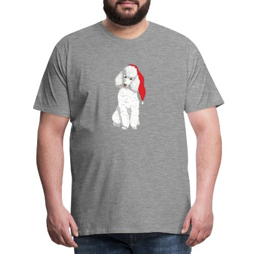 Poodle toy W - christmas - Herre premium T-shirt