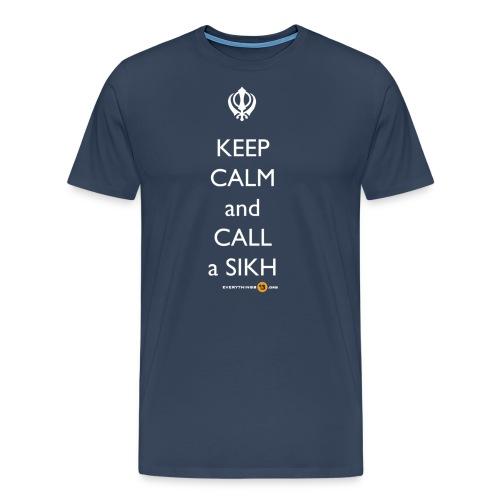 Keep Calm Call a Sikh - Men's Premium T-Shirt