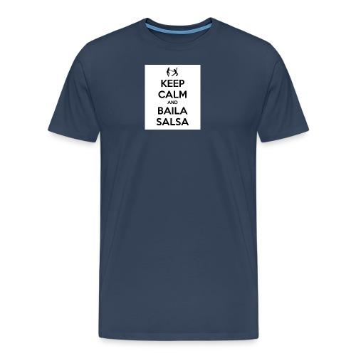 keep-calm-and-baila-salsa-41 - Maglietta Premium da uomo