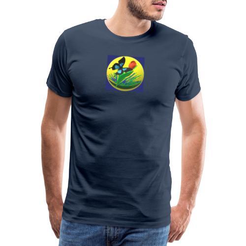 Farfalla e Tulipano2 - Maglietta Premium da uomo